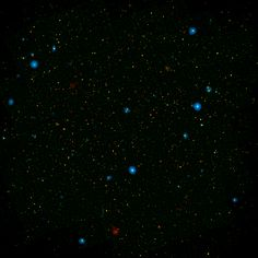 A Black Hole Choir The blue dots in this field of galaxies known as the COSMOS field show galaxies that contain supermassive black holes emitting high-energy X-rays.