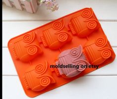 6-Owl Cake Mold Soap Mold Silicone Mold Soap Mould Biscuit