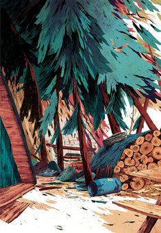 New Book Illustrations by Anton Van Hertbruggen Nature Illustration, Landscape Illustration, Graphic Illustration, Anton Van, Animation Background, Design Graphique, Environment Design, Environmental Art, Cgi
