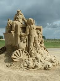 Love the detail in this Sand Sculpture
