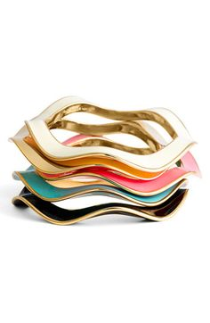 'make waves' bangles by kate spade