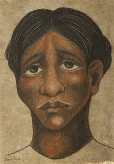 Head of Woman by Diego Rivera