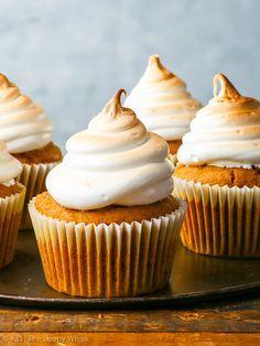 Dairy & Gluten Free Caramel-Stuffed Pumpkin Cupcakes