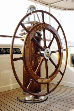 pretty ships wheel (on a big boat!)