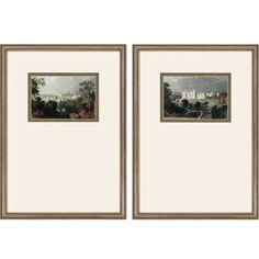 Castles by Allom 2 Piece Framed Photographic Print Set