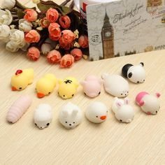 Cute Mochi Sheep Squishy Squeeze Healing Toy 4*3*2.5cm Kawaii Collection Stress Reliever Gift Decor