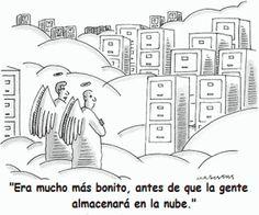 Guardar archivos en la nube es muy cómodo para todos nosotros, pero ¿qué opinan allí arriba? #tecnología