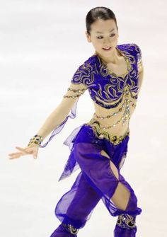 Mao Asada Purple Figure Skating / Ice Skating dress inspiration for Sk8 Gr8 Designs.