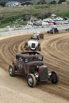 Hotrods racing...