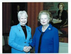 My good friend Sen. Val Stevens with Margaret Thatcher. My Best Friend, Best Friends, Margaret Thatcher, I Am Awesome, Freedom, Lady, Style, Fashion, Beat Friends