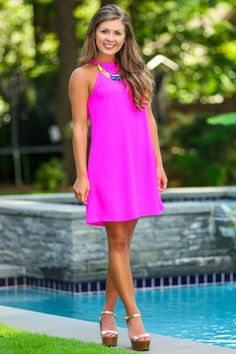 Sweet Nothings Dress-Fuchsia - New Arrivals   The Red Dress Boutique