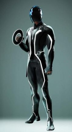 The Tron Legacy characters wore darks suits with a small amount of colour and light which gave bothe a futuristic and sci-fi feel. I think these would be great as the main character, the player.