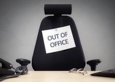 business chair with out of office sign concept for vacation holiday lunch break or work life balance Out Of Office Email, Paid Time Off, Finance, Tracking Software, Time For Change, Best Practice, What Can I Do, Stock Photos, Professional Development