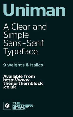 Uniman - Typeface by Jonathan Hill, via Behance