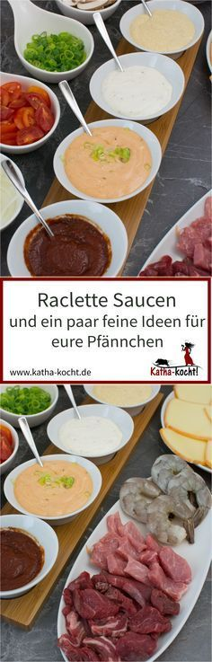 Raclette sauces and a few ideas - Katha cooks! - One must not be missing for raclette and these are raclette sauces – the best sauces and a few gr - Sauce Recipes, Cooking Recipes, Great Recipes, Favorite Recipes, Sauces, Party Snacks, Finger Foods, Pesto, Food Porn