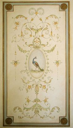 Wall stencil Versailles Grand Panel LG - amazing detail - Elegant French decor