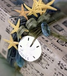 starfish & sand dollar gift packaging