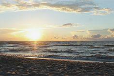 #sunset Baltic sea, Rewal, Poland. Morze Bałtyckie, zachód słońca, plaża, wakacje 2016