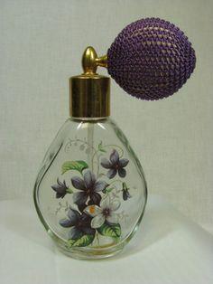 art nouveau perfume with violets