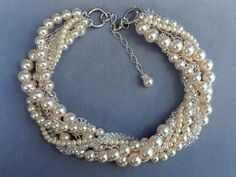 Wedding Necklace Bridal Statement Necklace by OWDJewelry on Etsy, $172.00
