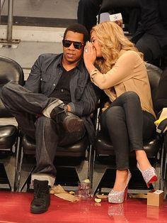 Beyonce Knowles and Jay-Z Photo - 2011 NBA All-Star Game - Performances And Celebrities