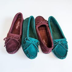Slip-on a new limited edition color for Fall. #MyMinnetonka #fall #suede #newarrivals