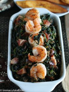 African Stewed Spinach (bacon replaced with Smoked Paprika)- Pro+,
