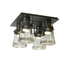 Erlenmeyer 4 Light Semi-Flush