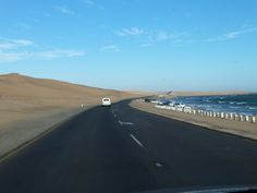 Desert road between Swakopmund & Walvis Bay Places To Travel, Places To Go, Land Of The Brave, Desert Road, Namib Desert, Namibia, Being In The World, Places Ive Been, South Africa
