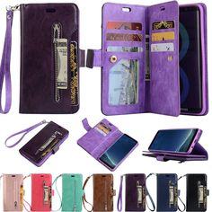 Cad slot design can hold your ID cards or credit cards. Made from high quality synthetic leather. Leather Phone Case, Leather Wallet, Leather Cover, Card Wallet, Credit Cards, Samsung Galaxy, Slot, Phone Cases, Stuff To Buy