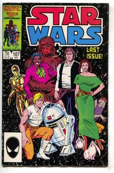 Star Wars 107 Marvel 1986 VG Luke Skywalker Han Solo Princess Leia Final Issue