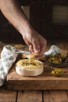Camembert et figues au miel et au Porto