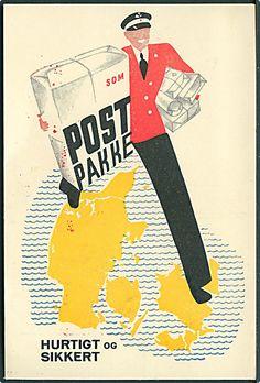 Danish postal service fast and secure Der var engang.