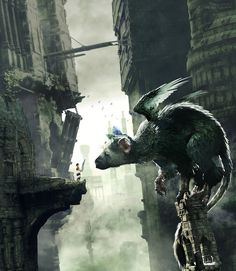 The Last Guardian is an adventure game, and the third work by Team ICO. The game, which takes place in the same world as Shadow of the Colossus and ICO, … Shadow Of The Colossus, Fantasy Creatures, Mythical Creatures, Video Game Art, Video Games, Star Citizen, Deviantart, Amazing Art, Awesome