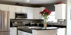 Black and White Kitchen Remodel with Painted Cabinets - tricks for super smooth cabinet finish
