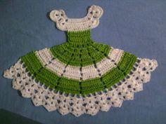 Crochet Bedspread Pattern, Crochet Bikini Pattern, Crochet Patterns, Crochet Potholders, Crochet Doilies, Crochet For Kids, Crochet Baby, Ribbon Embroidery, Embroidery Designs