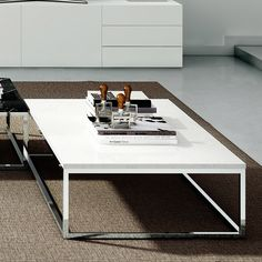 08943ab498d Prairie 47X30 Marble Coffee Table in White by TemaHome Furniture