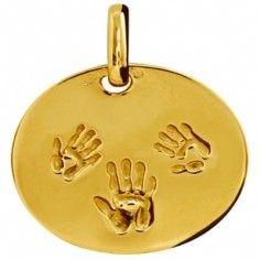 Grande médaille 3 Empreintes (or jaune 750°) - Tournaire
