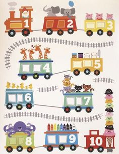 Choo Choo Train Poster by alohababydesign Train Posters, Baby Posters, Kids Bedroom Accessories, Train Illustration, Art For Kids, Crafts For Kids, Choo Choo Train, Train Pictures, Train Party