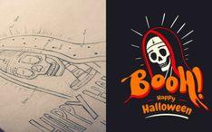 Tuto Illustrator gratuits - Illustrations vectorielles, logo, dessin Halloween Boo, Happy Halloween, Adobe Illustrator, Logos, Darth Vader, Movie Posters, Fictional Characters, Inspiration, Inspire