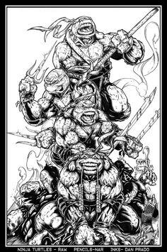 Ninja Turtles by Nar and Prado by PradoInkworks on DeviantArt