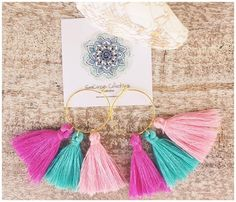 Cute as a button tassel earrings come on lots of colours and styles https://www.seacircuscollections.com.au/products/copy-of-tassel-earrings-pink-purple-blue