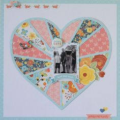 Happy+Day - Scrapbook.com...and this is a wonderful idea for fabric...paper and fabric...,or commemorating a quilt completed!