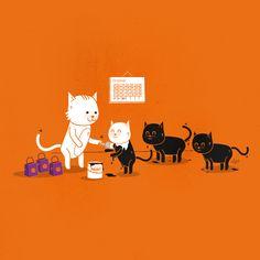 Cute Halloween Iphone Wallpaper I found online :) Halloween Dress, Cute Halloween, Crazy Cat Lady, Crazy Cats, Dog Overalls, Dog Wallpaper Iphone, Cute Wallpapers, Iphone Wallpapers, Cat Art
