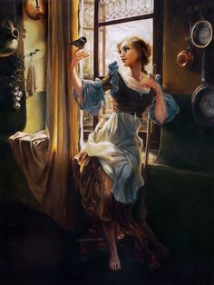 In love with these Disney Princess paintings by Heather Theurer