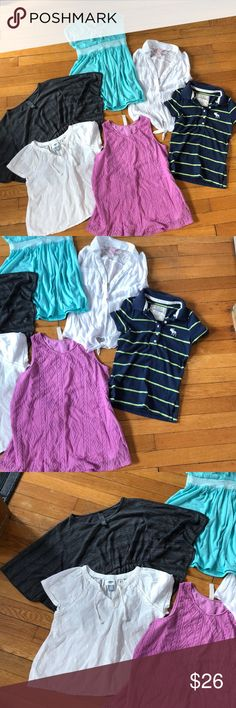 Cute tops size 10 Abercrombie, old navy  Bundle to save on shipping  Check out my closet for lots more kids Shirts & Tops