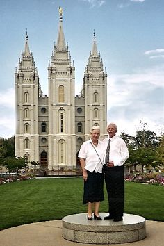 View of Salt Lake Temple with our friends from Germany, by Elaine