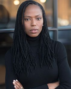 locs Lately, I've given countless side-eyes like this one Rhea Lohman captured. I can control my wor Leda Muir, Faux Locs Styles, Curly Hair Styles, Natural Hair Styles, Dreadlock Hairstyles, Cut Hairstyles, Hairstyles Pictures, Casual Hairstyles, Updo Hairstyle