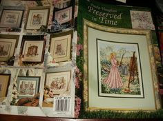 Paula Vaughn Cross Stitch Preserved in Time Book Seventy Two 72 Leisure Arts 3158 Counted Cross Stitch Leaflet. $8.00, via Etsy.
