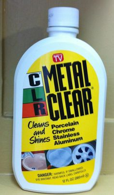 Cleaning Stainless Steel With CLR Metal Clear